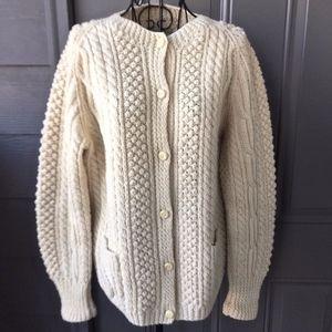 VTG Kennedy Ardara Irish Wool Cardigan Sweater